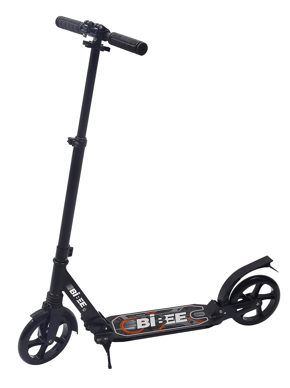Bibee Pump – Patinete jóvenes Adulto Grande Rueda Plegable con función Atril y suspensión