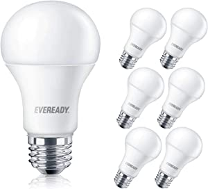 EVEREADY Led Light Bulbs, Non-Dimmable, 100 Watts Equivalent Light Bulbs (14W Led Bulbs), 1600 Lumen, 2700k Soft White Color, A19 E26 Base Led Replacement for Halogen Bulb, UL Certified – 6 Pack