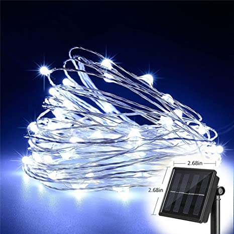 t homelight solar string lights white 300leds 30m 100ftwaterproof 8 modes copper