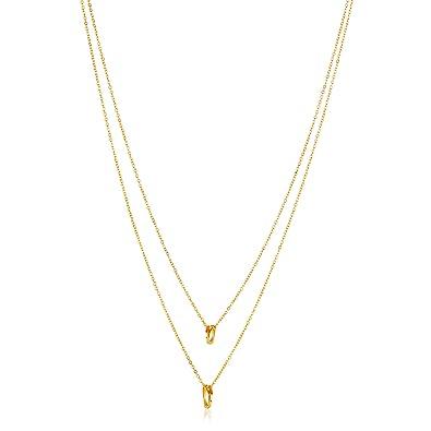 Amazon.com: Elya joyería para mujer pulido círculo collar ...