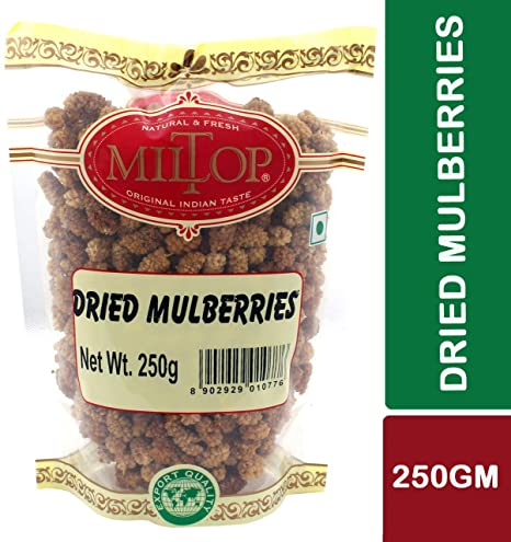 Miltop Dried Mulberries, 250g
