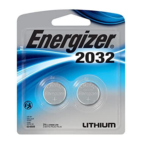 Energizer Watch/Electronic Batteries, 3 Volts, 2032, 2 batteries (Lithium Button Cell) General Purpose Batteries & Battery Chargers at amazon