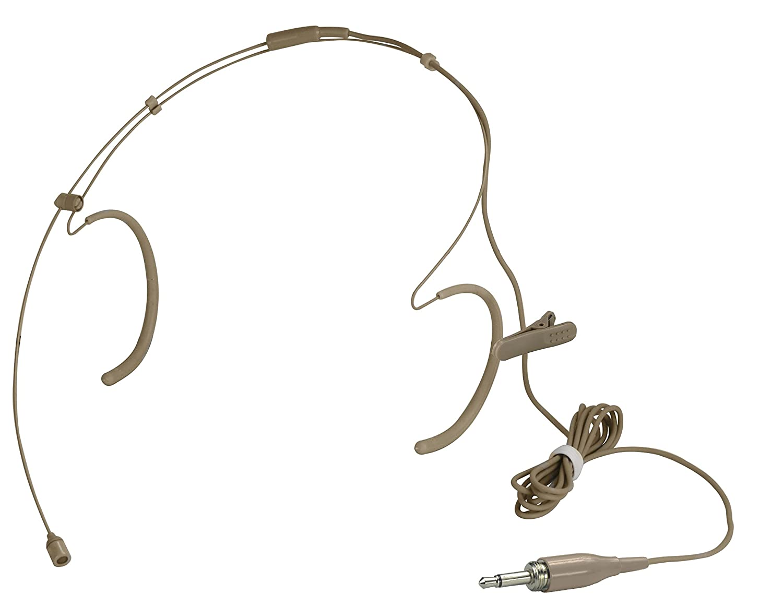 HEIMU Single Earhook Wired Headset Boom Mini XLR Omni-Directional Microphone for Shure type 4 pin mini plug BLACK