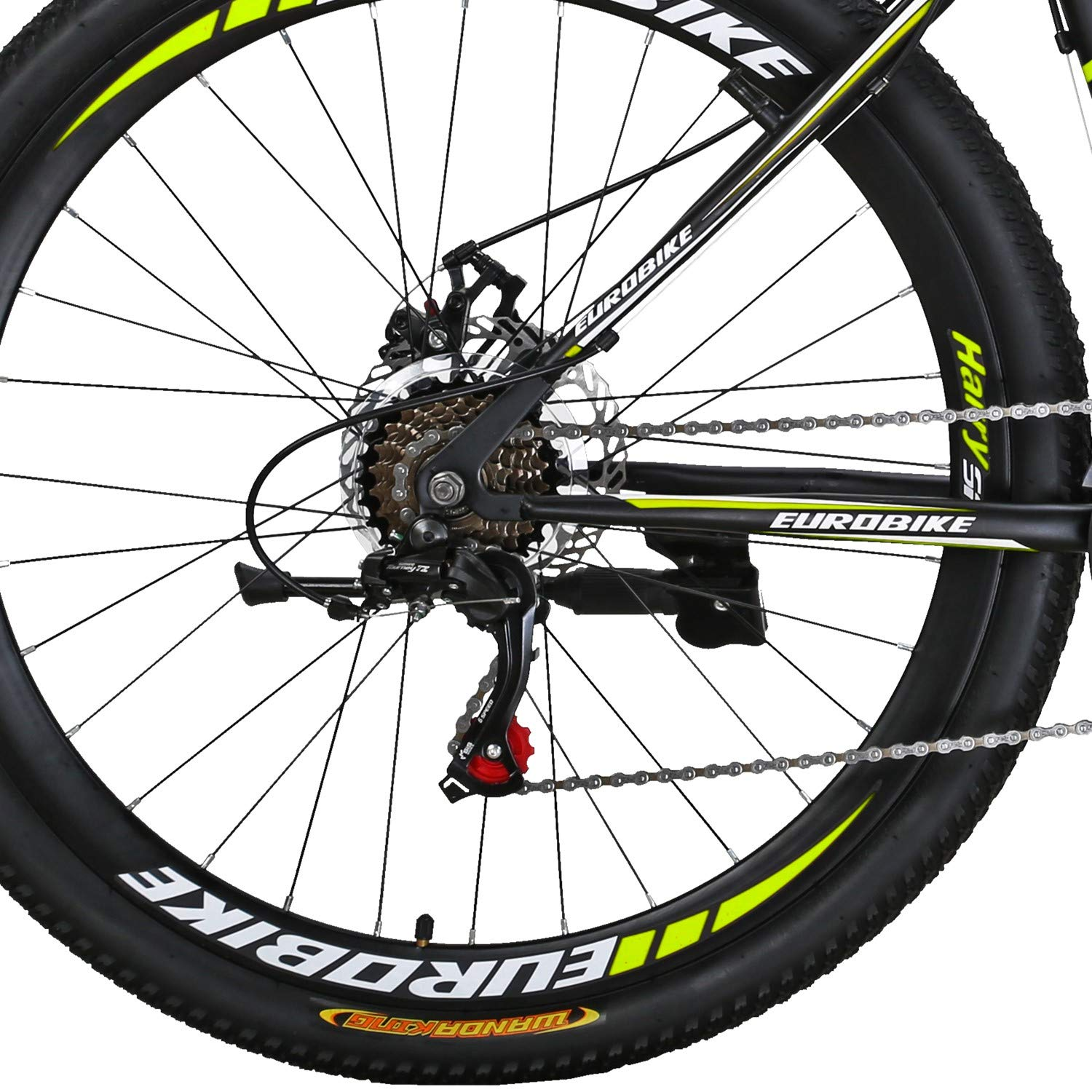 Eurobike BICYCE X1 27.5inch Mountain Bike 21 Speed Shift Left 3 Right 7 Frame Mountain Bicycle
