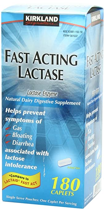 180 Caplets Fast Acting Lactase - Lactase Enzyme - Compare to the Active Ingr: Amazon.es: Salud y cuidado personal