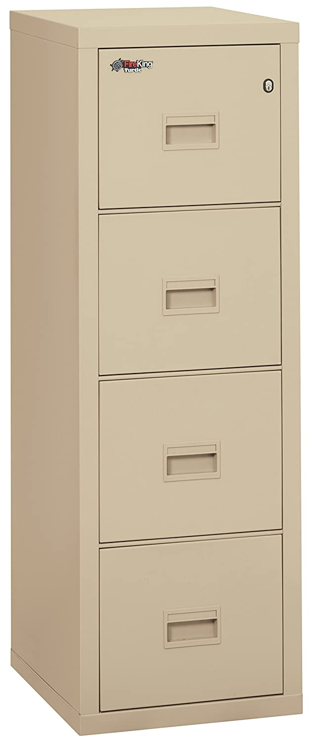 "Fireking Turtle Fireproof File Cabinet, 52.75"" H x 17.75"" W x 22.13"" D, Parchment"