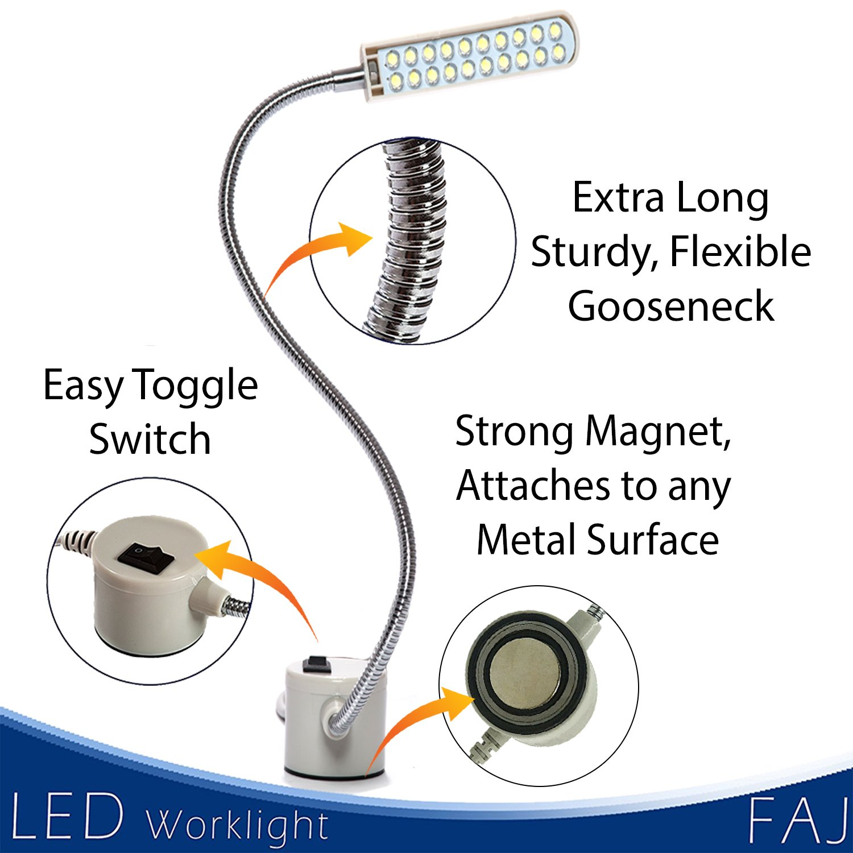 Led Magnetic 12 Inches Flexible Gooseneck Arm