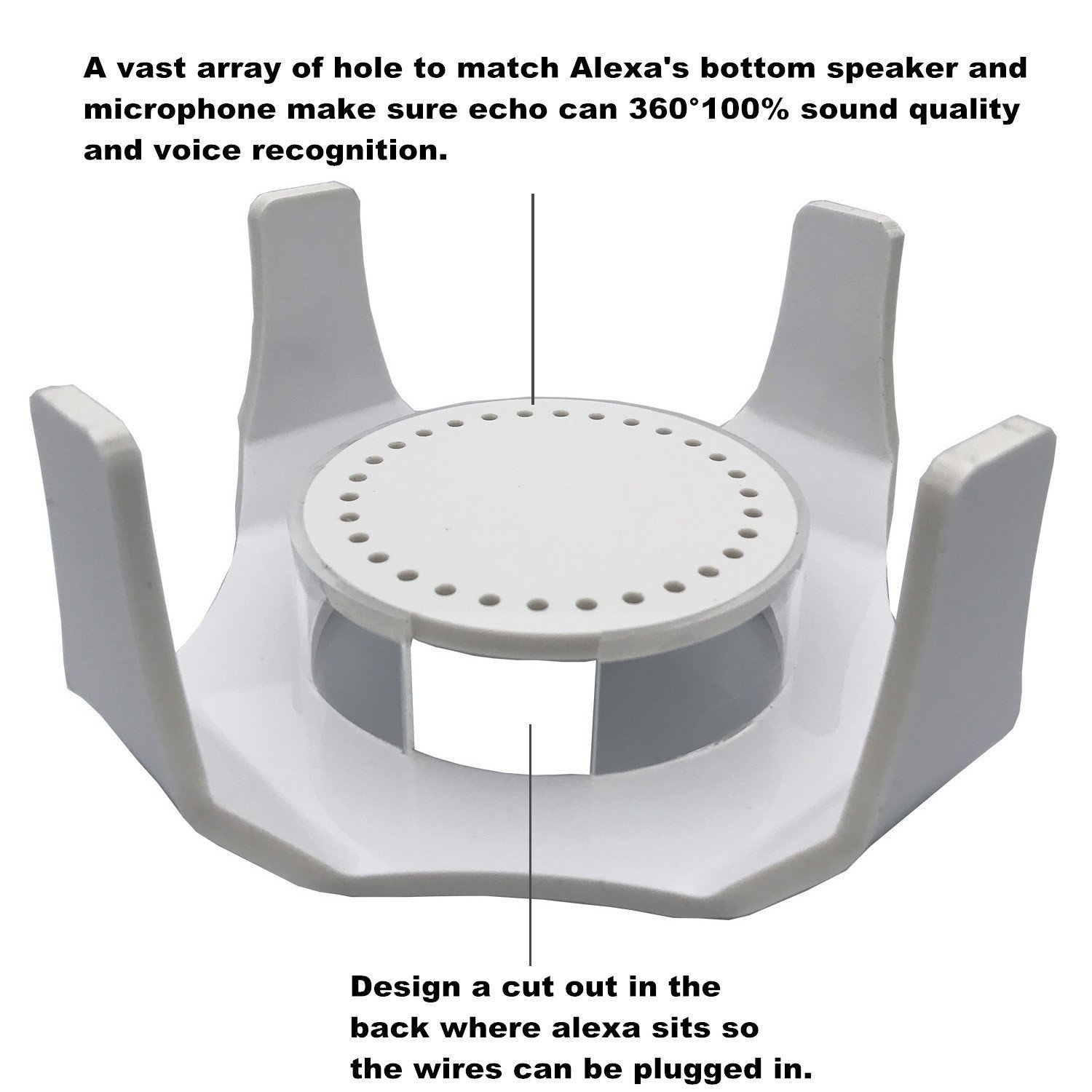 Fits Echo Dot 2nd /& 1st Generation White X-super Speaker Base Stand For  Echo Dot 2 Alexa Protective Accesories Desk Holder Gurad Stand