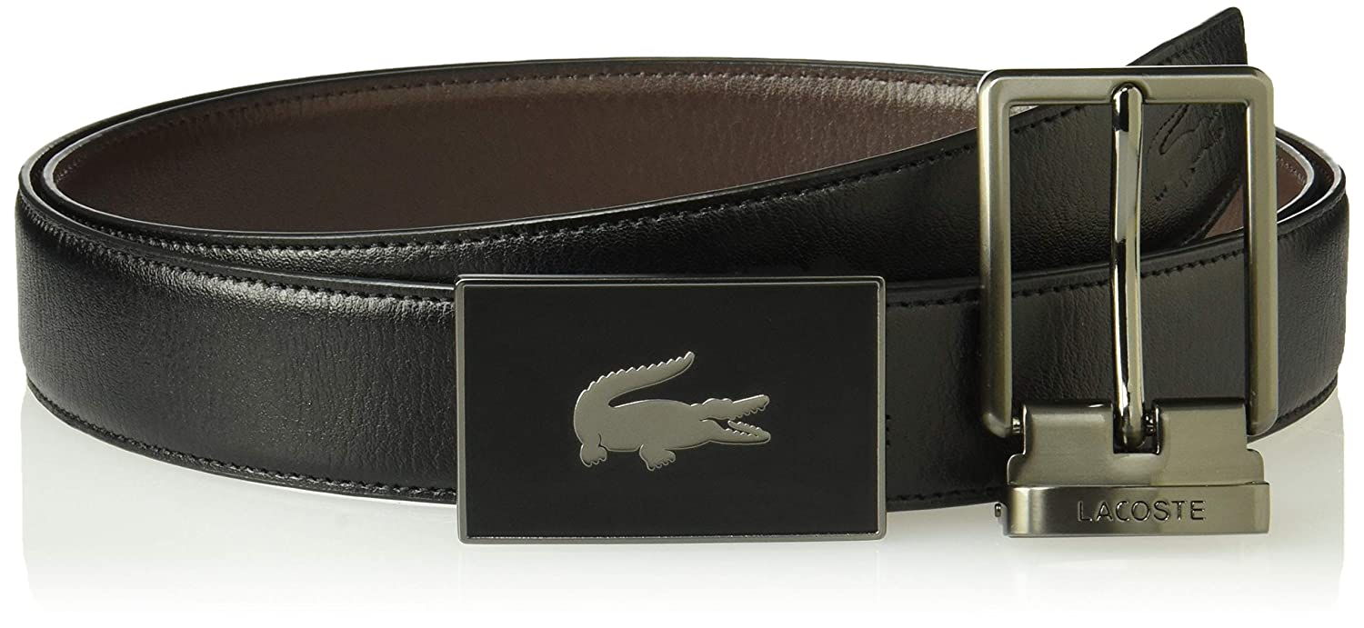 47d8ee02601474 Lacoste Men s Classic Textured Leather Belt at Amazon Men s Clothing store