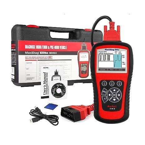 Autel MD802 OBD2 Scanner EOBD Scan Tool for Engine Transmission ABS Airbag  EPB Oil Service Reset