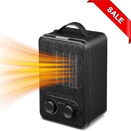 Calefactor Cerámico PTC, Sancusto® - Estufa de Cerámica Mini Ventilador Calefactor Bajo Consumo Calentador