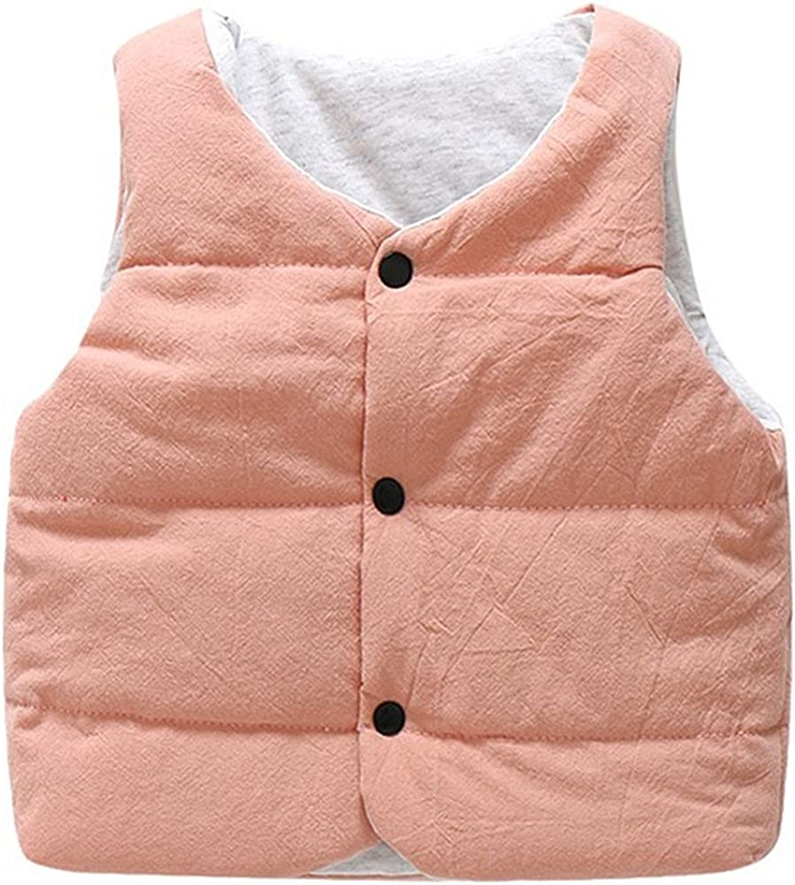 LJYH Boys Girls Cotton Vest Infant Toddler Padded Waistcoat