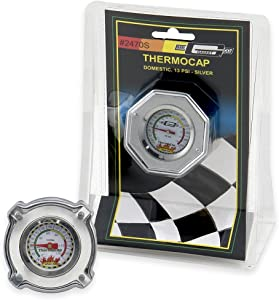 Mr. Gasket 2470S Domestic ThermoCap 13 PSI-SLVR