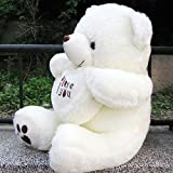 "Vercart 1.5 Foot 20"" White I Love You Cuddly Stuffed Animals Plush Sweatheart Teddy Bear Toy Doll"