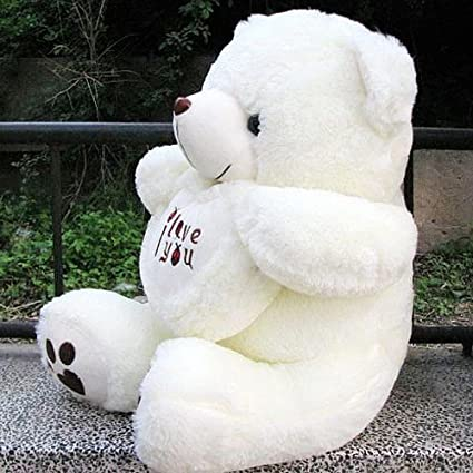 Amazon Com Vercart 3 Foot 36 White I Love You Giant Cuddly Stuffed