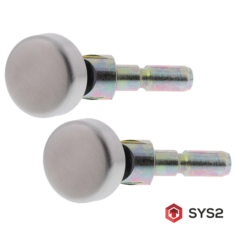 ToniTec SYS2 Befestigungssystem einseitig mit Abdeckkappe fü r schrä ge Stoß griffe an Glastü ren ToniTec GmbH