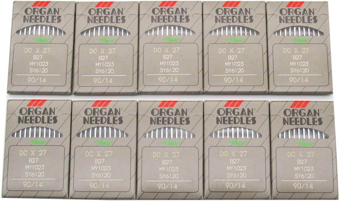 Organ Needle – 100 agujas de máquina de coser Organ B27 DCX27 Overlock Serger: Amazon.es: Juguetes y juegos