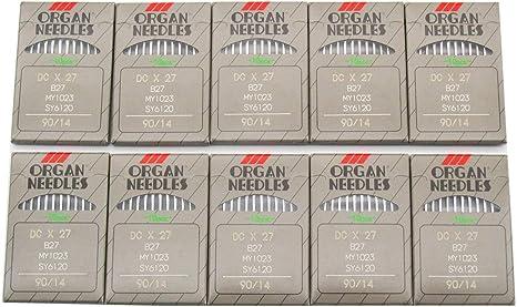 Organ Needle – 100 agujas de máquina de coser Organ B27 DCX27 ...