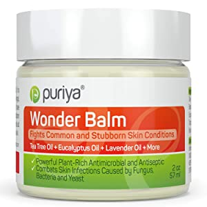 Puriya Tea Tree Oil Balm. Apply on feet, Nails, Groin, Chest. - Award Winning - Trusted by 200K Users - Forms a Skin Defense Layer in Humid Conditions. Use It Before and After Gym, Yoga, Pool, Sauna
