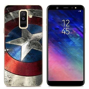 Aksuo Funda For Samsung Galaxy A6 Plus , TPU Anti-Rasguño Anti-Golpes Cover Protectora Transparente Claro TPU Caso Bumper Slim Silicona Case - Capitán ...