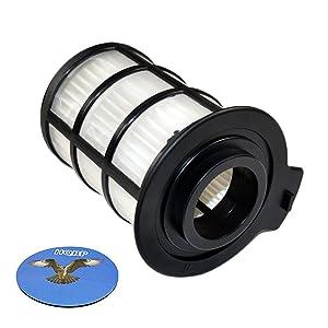 HQRP Central HEPA Filter for Vax Power Pet V-109 V109 V-109P V-109PB V-109PP V-109ST Ultrixx Cylinder Vacuum Cleaner Coaster