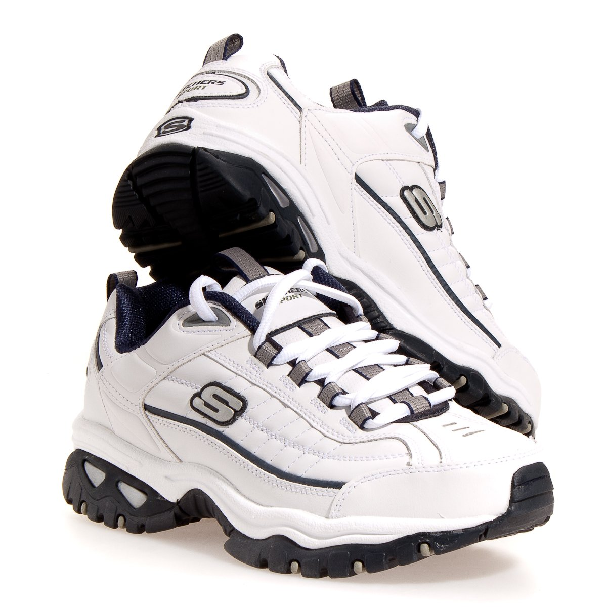 Skechers Energy After Burn Mens Sneakers White/Navy 8.5 W