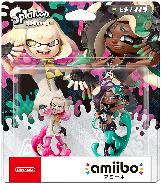 Amiibo Splatoon 2 Nintendo Switch Cefalopop Set Marina / Pearl ...