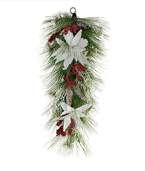 Unlit Christmas Northlight 32 Mixed Pine Artificial Christmas Teardrop Swag
