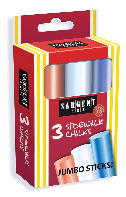 Sargent Art 66-3000 3 Count Jumbo Sidewalk/Hopscotch Chalks