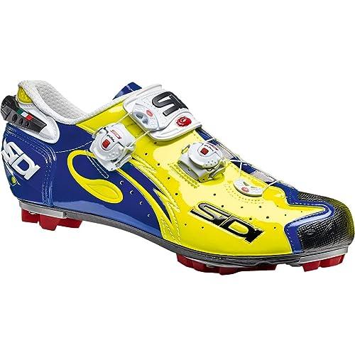 Zapatillas MTB Sidi 2018 Drako Carbon SRS Amarillo Fluorescent-Azul: Amazon.es: Zapatos y complementos