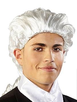 Peluca Barroco Rococo Mozart Blanco Carnaval Halloween fastnacht