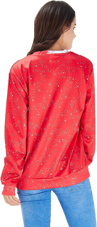Goodstoworld Unisex Women//Men Ugly Christmas Sweater Shirts 3D Funny Pullover Sweatshirts S-XXXL
