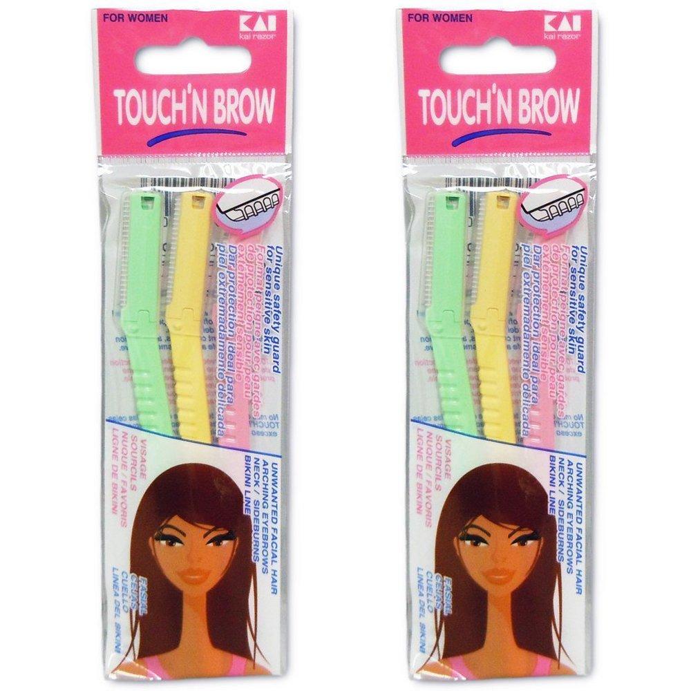 KAI TOUCH N BROW Eyebrow Razor ( Pack of 2 ) KAI Razor CO.