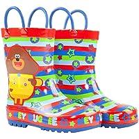 Hey Duggee Boys Wellies Children's Wellington Carry Handle Snow Boots