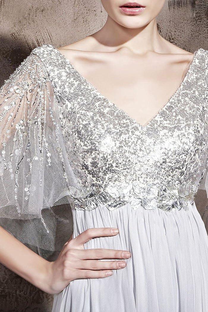Adorona A-Line Special Occasion V-Neck s Long Mother Of The Bride Dress