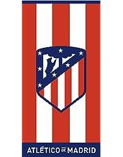 Atlético de Madrid. Toalla de Terciopelo Oficial del Club. 152x76cm. Rayas 03
