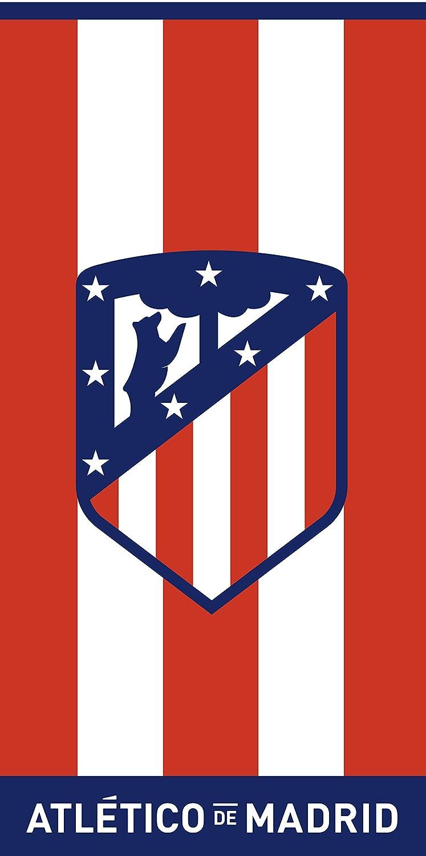 Atlético de Madrid. Toalla de Terciopelo Oficial del Club. 152x76cm. Rayas 03 José Albero Puerto S.L.