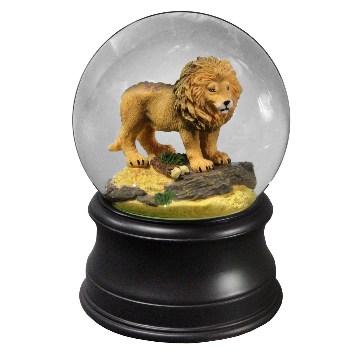 Proud lion Water Globe The San Francisco Music Box Company   B0764KHGRQ
