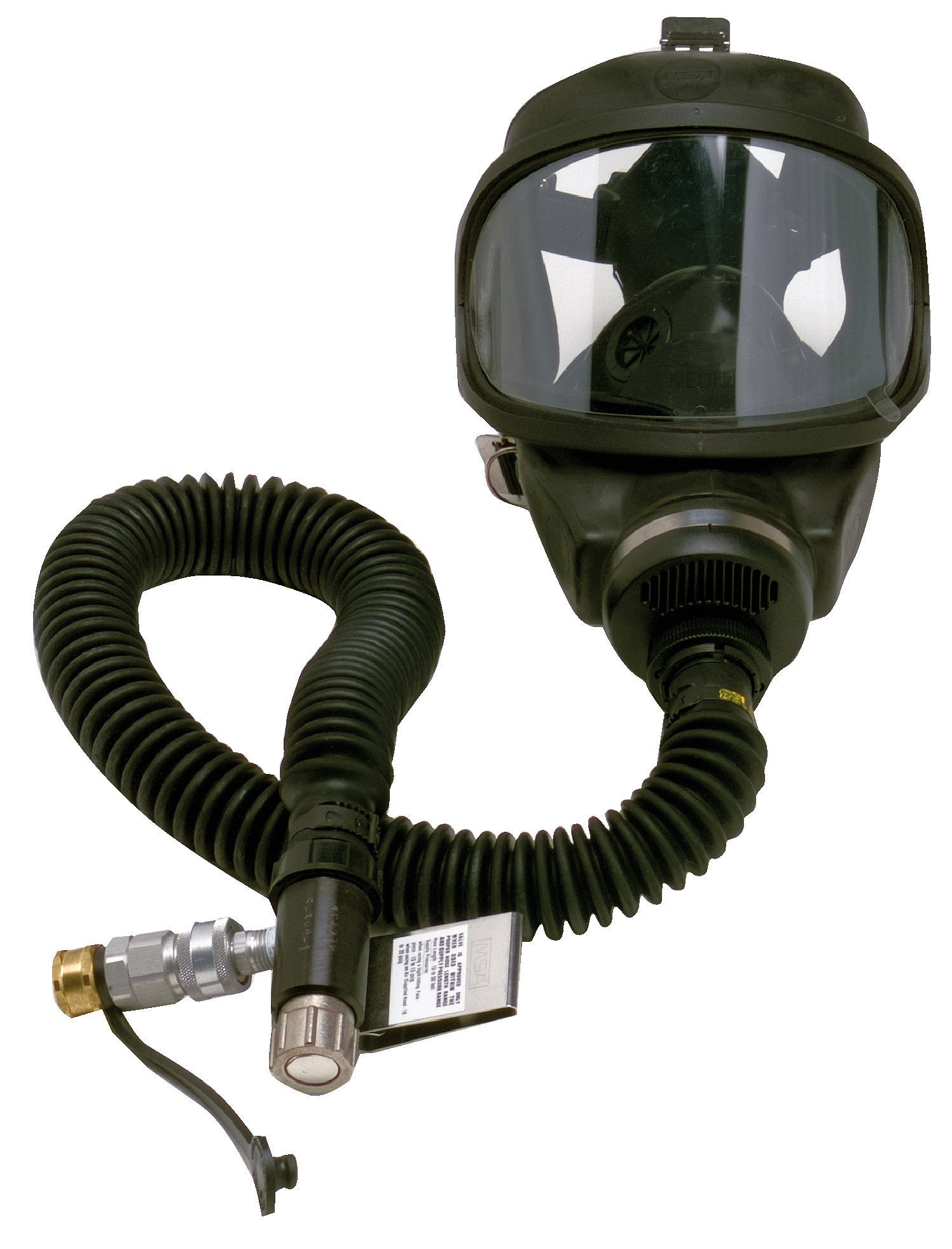 MSA Safety 810829 Constant Flow Air-Line Respirator Complete Assembly with Ultra Elite Facepiece and Snap-Tite Aluminum Quick-Disconnect, 35 psig - 40 psig Inlet Pressure