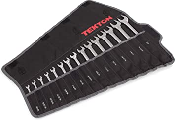 Extra Length in Roll up storage pouch 1//4-1 in. 15pc.Combination Wrench Set SAE