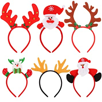 Image Unavailable. Image not available for. Color  Sumind Santa Headbands  Christmas ... 1e8c569a4a8