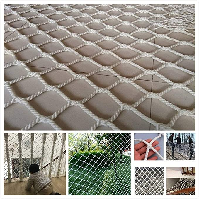 Pets Protection Safety Fence Railings Stairs Nylon Rope Climbing Woven Rope Truck Cargo Trailer Netting Anti-Fall Net Outdoor Climbing Net Cat Net Wall Decoration Net 6mm