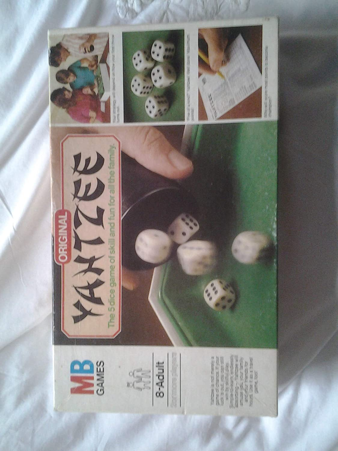 ORIGINAL YAHTZEE. 1982 EDITION BY MB GAMES: Amazon.es: Juguetes y juegos