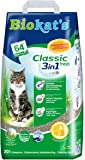 Biokat's Classic Fresh 3in1 Cat Litter – Absorbent and Odour Binding Clumping Litter with Spring Fragrance – 1 x 20l Bag