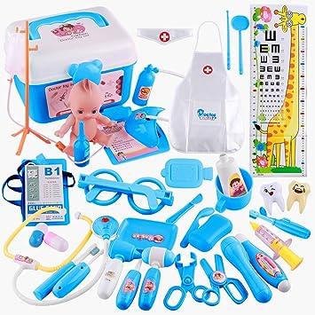 Los niños doctor maletín 13-piezas médico maletín médico bolso juguetes estetoscopio gafas