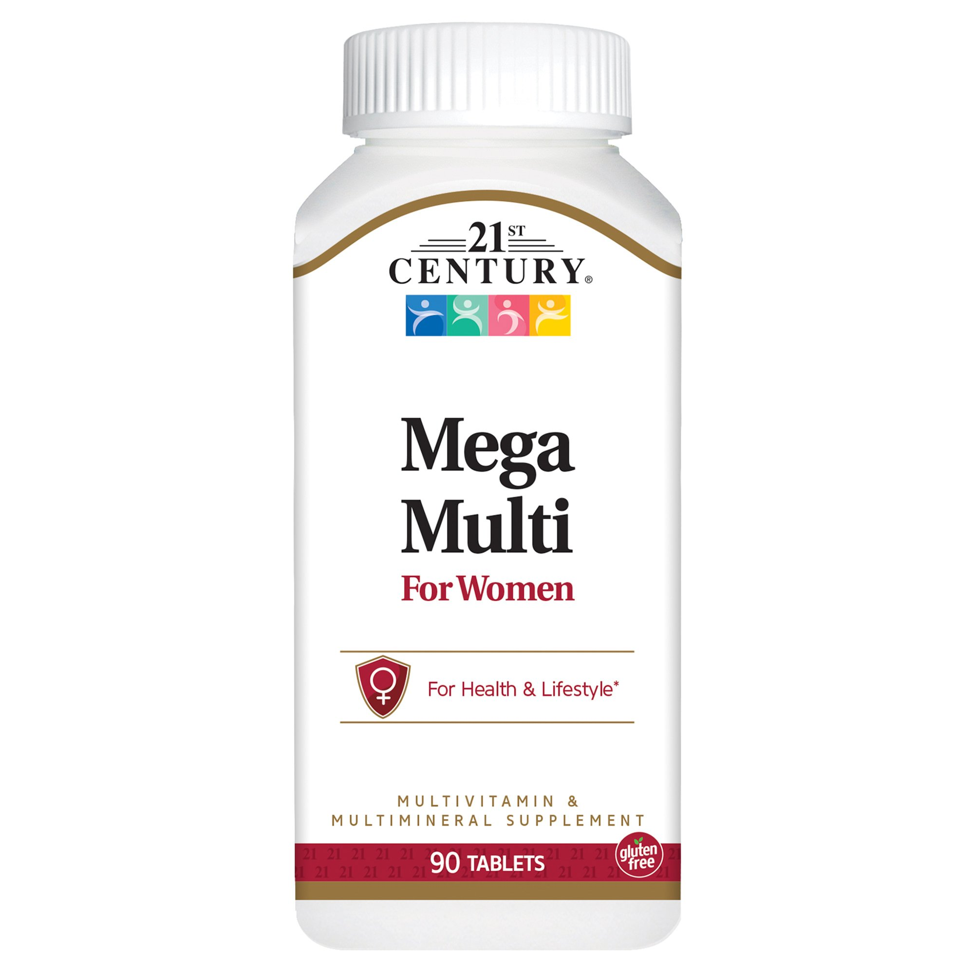21st Century Mega Multi for Women Tablets, 90 Count