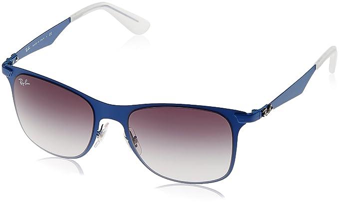 a2272ec1fb Image Unavailable. Image not available for. Colour  Ray Ban Wayfarer  Sunglasses (Matte Blue) ...
