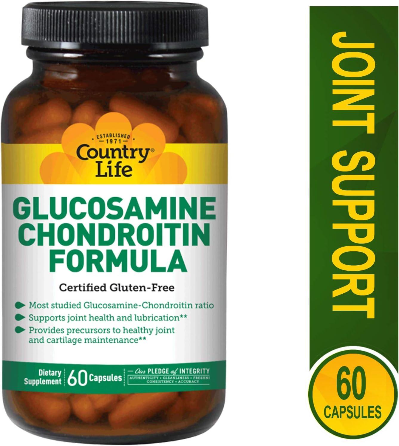 Country Life Glucosamine Chondroitin formula, 60 Capsules