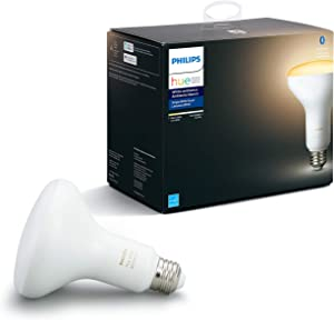 Philips Hue White Ambiance BR30 LED Smart Bulb, Bluetooth & Zigbee compatible (Hue Hub Optional), for recessed cans and downlights, Works with Alexa & Google Assistant – A Certified for Humans Device