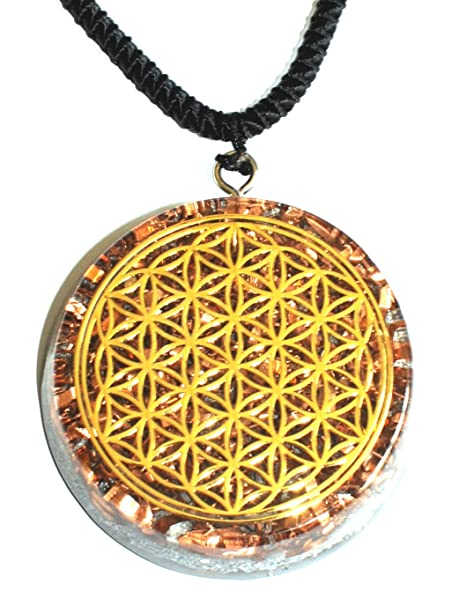 Amazon zzybia flower of life orgone pendant generator energy zzybia flower of life orgone pendant generator energy accumulator emf protection large 225 inch aloadofball Choice Image